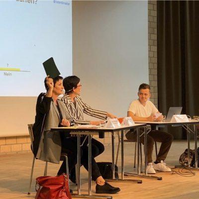 Podium mit allen Ständeratskandidierenden des Kantons BL zu den nationalen Wahlen 2019